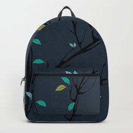 Nightingale singing in the night sky under the moonlight Backpack