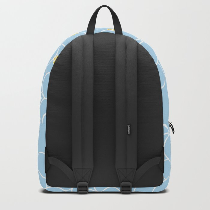 Forget Me Knot Blue Boarder Backpack