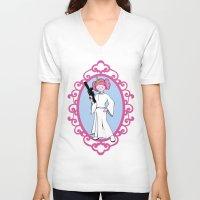 princess bubblegum V-neck T-shirts featuring Princess Bubblegum/Leia by createASAP