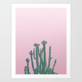 Wild Cactus Pink Art Print