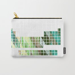 Periodic Table, Pixilated Color Blocks Carry-All Pouch