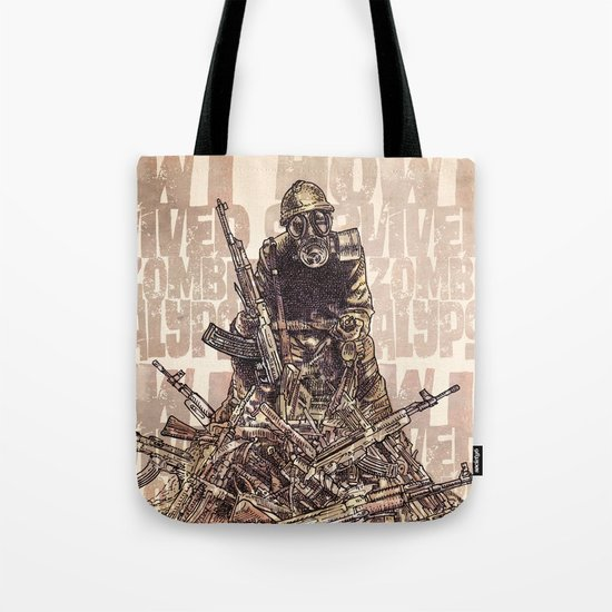 How I Survived The Zombie Apocalypse Tote Bag