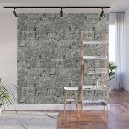dystopian toile mono Wall Mural