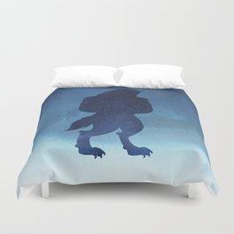 Beast Silhouette - Beauty and the Beast Duvet Cover