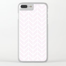2019 Color: Pink Cream in Chevron Clear iPhone Case