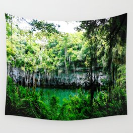 Travel Photography : Los Tres Ojos - Dominican Republic Cave Wall Tapestry