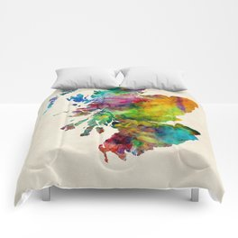 Scotland Watercolor Map Comforters