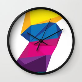 2020 Multicoloured Polygon  Wall Clock