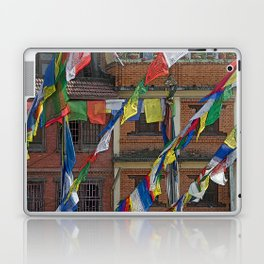 BOUDHANATH HOUSES AND FLAGS KATHMANDU NEPAL Laptop & iPad Skin