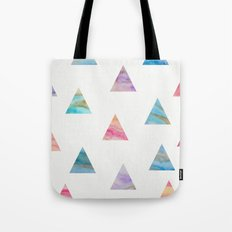 Marble Triangles Tote Bag