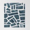 abtract indigo tile pattern by blueblush