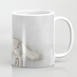 Clay Dog in the Snow Coffee Mug