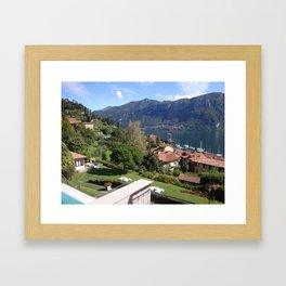 Lake Como vista Framed Art Print
