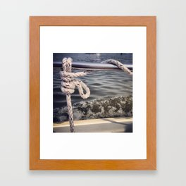 Rope and Sea Framed Art Print