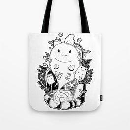 GoldenFish  and cat Tote Bag