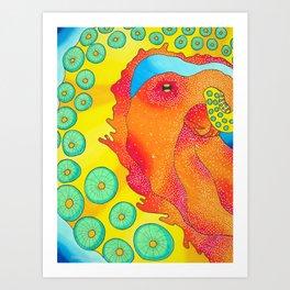 Red Hot Octopus Art Print