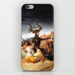Francisco de Goya - Witches Sabbath (El Aquelarre) 1798 Artwork for Wall Art, Prints, Posters, Tshir iPhone Skin