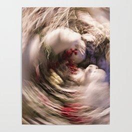 Abstract Polar Bear Family Poster