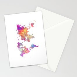 Map of the world #map #world Stationery Cards