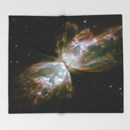 The Butterfly Nebula Throw Blanket