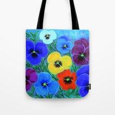 Painted pansies Tote Bag