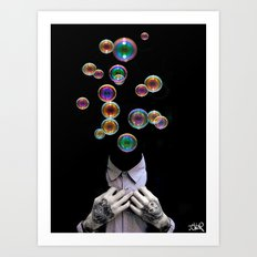 WE ALL FLOAT AWAY Art Print