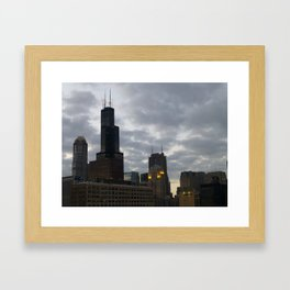Chicago Skyline Oct. 9 Framed Art Print
