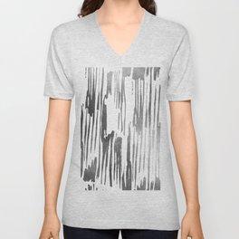 Modern Stripes Gray Unisex V-Neck