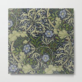 William Morris Seaweed Pattern Metal Print