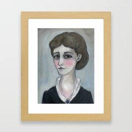 The Age of Wharton, Literary Portrait Framed Art Print