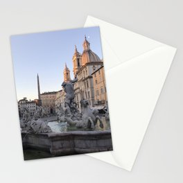 Dawn at Piazza Navona Stationery Cards