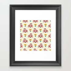 Circus With Performing Elephants Framed Art Print