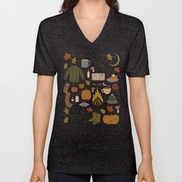 Autumn Nights Unisex V-Neck