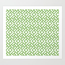 CHINESE CHIPPENDALE green Art Print
