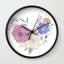 HeArt Floral Wall Clock