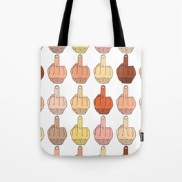 Multicultural Middle Fingers Tote Bag
