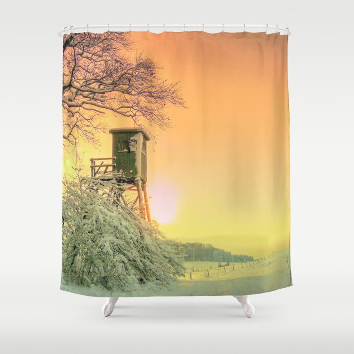Winter Romantic Shower Curtain