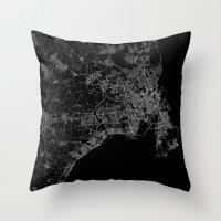 copenhagen Throw Pillows featuring Copenhagen by Line Line Lines
