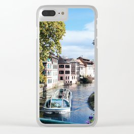 Strasbourg River View Clear iPhone Case