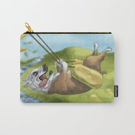 Bulldog on Swing Carry-All Pouch