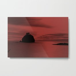 Crimson Nightfall Metal Print