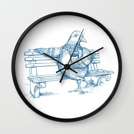 Cup O' Coffee NYC Style_pigeon Wall Clock