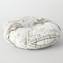 Corvus, Noctua, Hydra Constellations Plate 27, Alexander Jamieson Floor Pillow