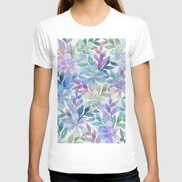 watercolor Botanical garden T-shirt