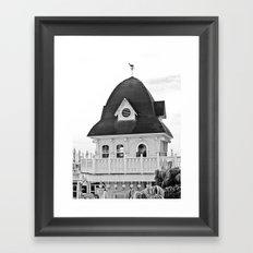 Beach Hut (II) Framed Art Print