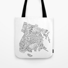 Bronx - Hand Lettered Map Tote Bag