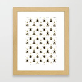 Gold Queen bee / girl power bumble bee pattern Framed Art Print
