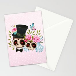 Together Forever - Sugar Skull Bride & Groom Stationery Cards