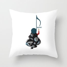 Live On Music Throw Pillow