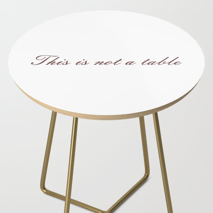 Rene Magritte: This is not a Side Table